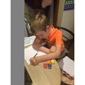 Oliver has been trying hard with his work.
