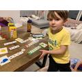 Fantastic word building using phonics Joshua!