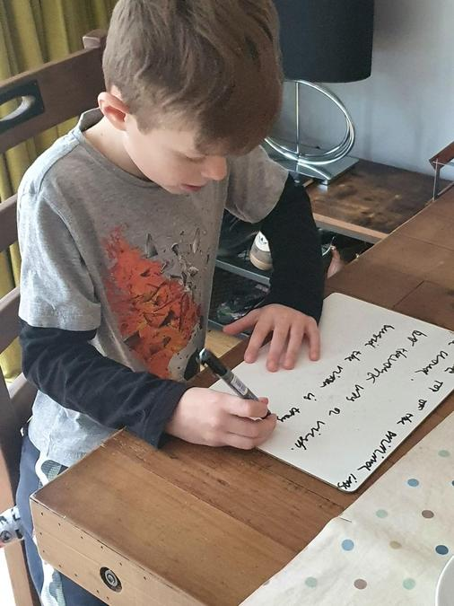 William's whiteboard work!