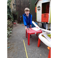 Oliver made a catapult.