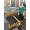 Will's built an impressive flowerbed