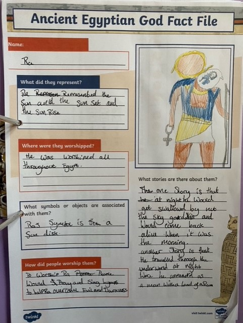 An amazing Egyptian fact file.