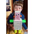 Oliver made a super robot!