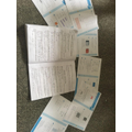 Kady's completed her Maths and English activities.