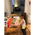 Brooke creating her masterpiece.