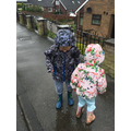Dylan's wet and windy welly walk!