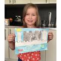 Poppy drew a fantastic castle.