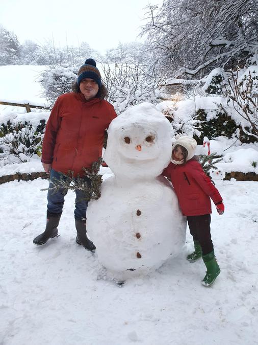 Fabulous snowman Eva!