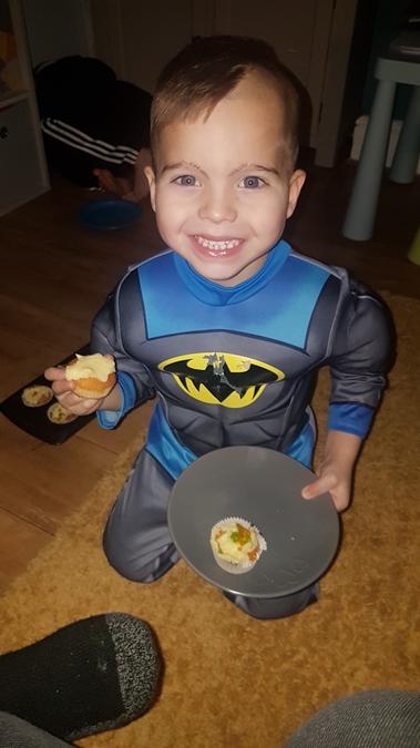 One happy batman!