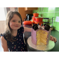 Freya and her lovely birthday cake