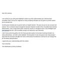 Sophia's formal letter from the Principle