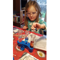 Ella busy investigating!