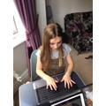 Elizabeth is writing her Sparta letter