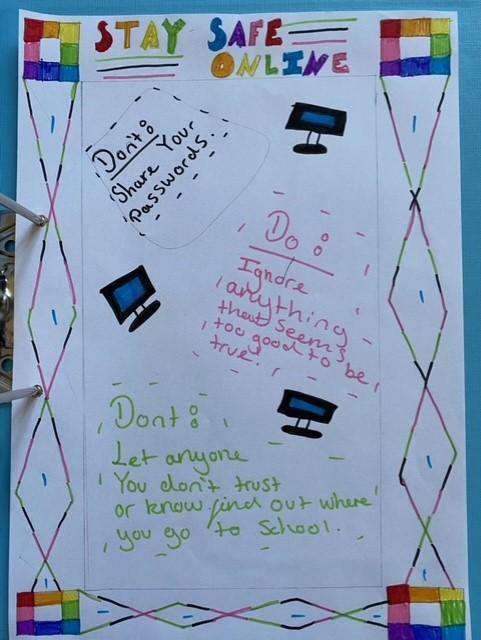 Elizabeth's 'Safer Internet Day' poster