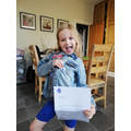 Annabelle has received a.... BLUE PETER BADGE!!!!!
