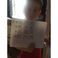 Ordering numbers- well done Max.