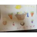 Lily's brilliant harvest basket!