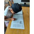 Mansunder's developed her reading comprehension.