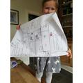 Annabelle's super castle drawing.