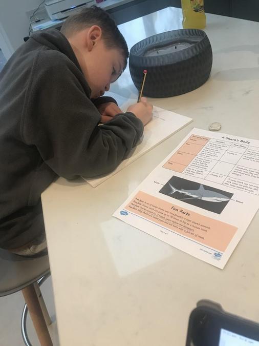 Lyle working hard