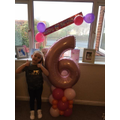 Jessica celebrated her birthday in the half-term holidays.