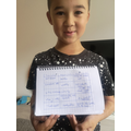 Some super English work by Timmy!