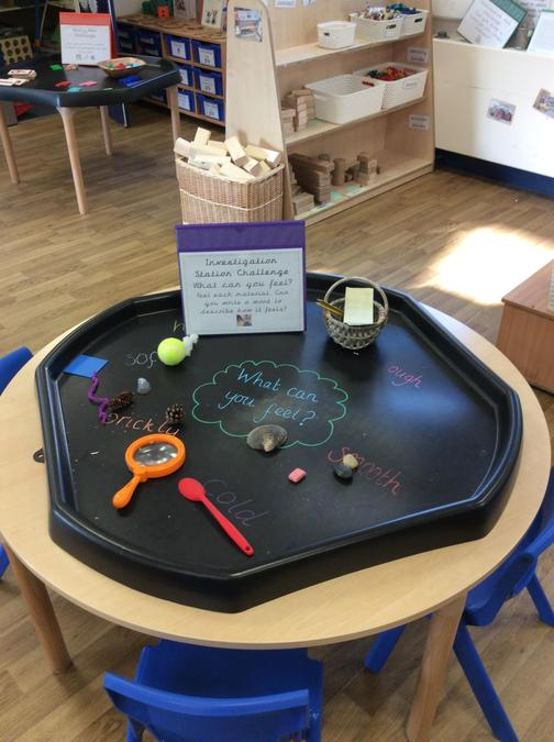 Investigation Area- we can explore, wonder and discover.