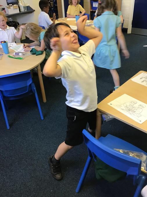 Felix taking part in some Bollywood dancing!