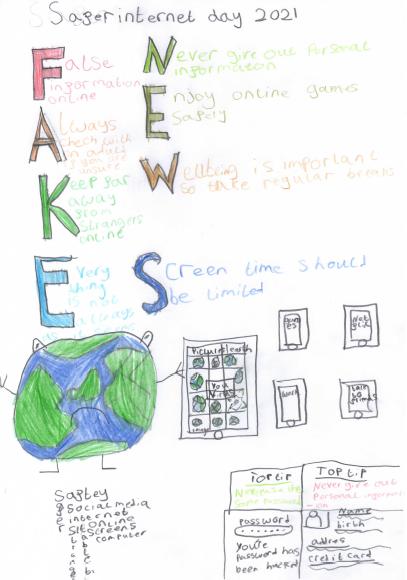 Jonah's 'Safer Internet Day' Poster