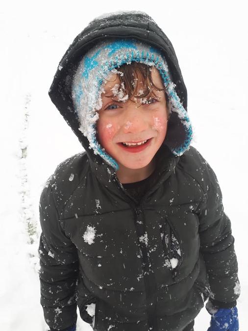Luke enjoying the snow!