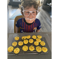 Max's tasty Easter biscuits. Yum! Yum!