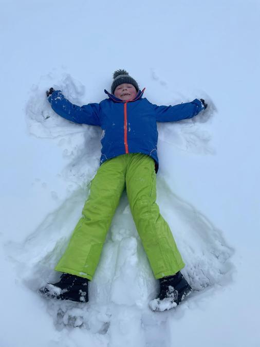 Snow angels by Josh!