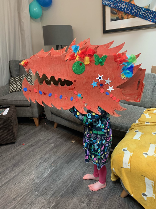 Look at this amazing dragon head, perfect for a Chinese New Year parade!