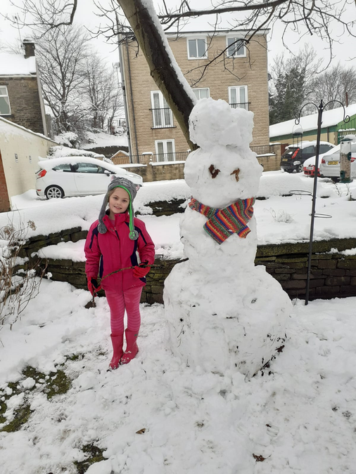 ANOTHER snow day and a HUGE snowman by Daisy!