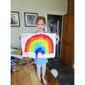 Annabelle's beautiful rainbow.