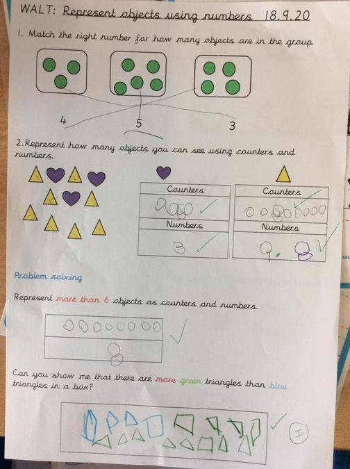 Some of our super Maths work this week.