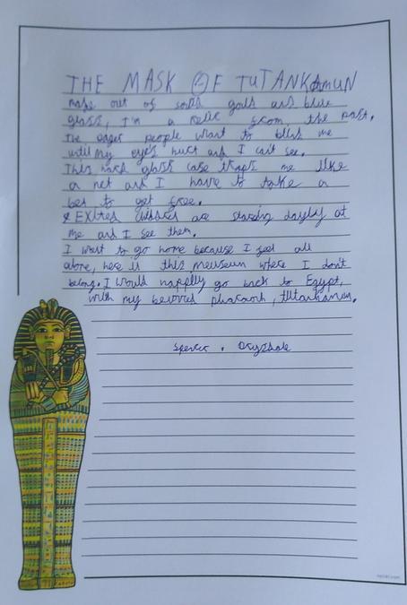 Spencer's superb take on the Tutankhamun poem!
