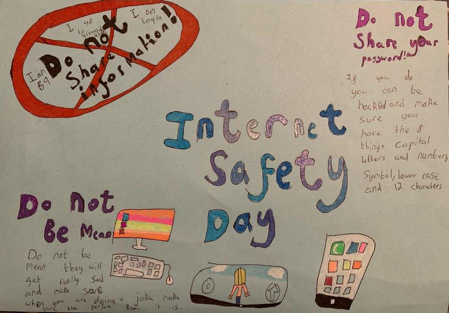 Layla's super safety poster!