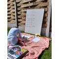 Myley's outdoor maths class!