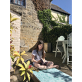 Reading in the sunshine!