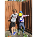 Max's jolly scarecrow.