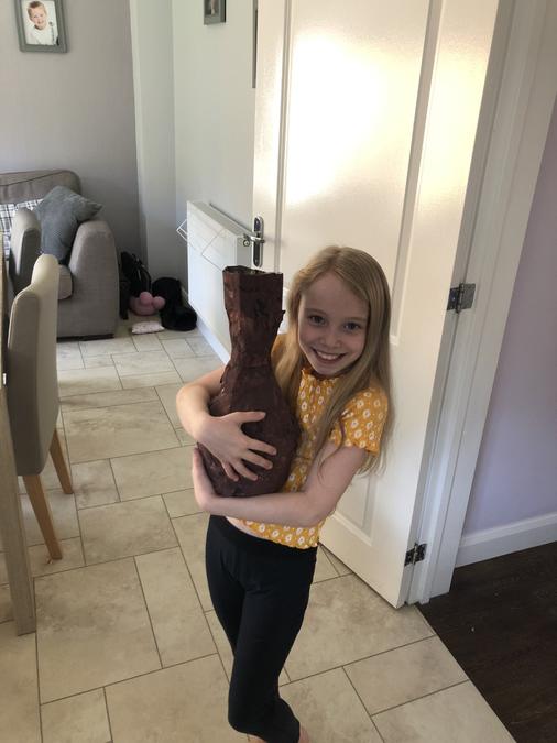 Isobel's humongous Stone Age pot!
