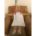 Lucy's scarecrow- wow!