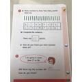 Great Maths work Lois!