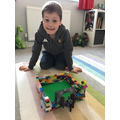 George's Lego castle with brave knight!