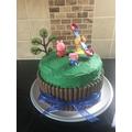 Mrs S made a birthday cake. Yum! Yum!