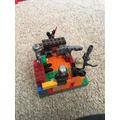 Oliver's past, present and future Lego castle.