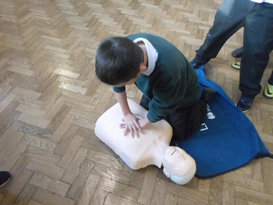 Everyone practised resuscitation