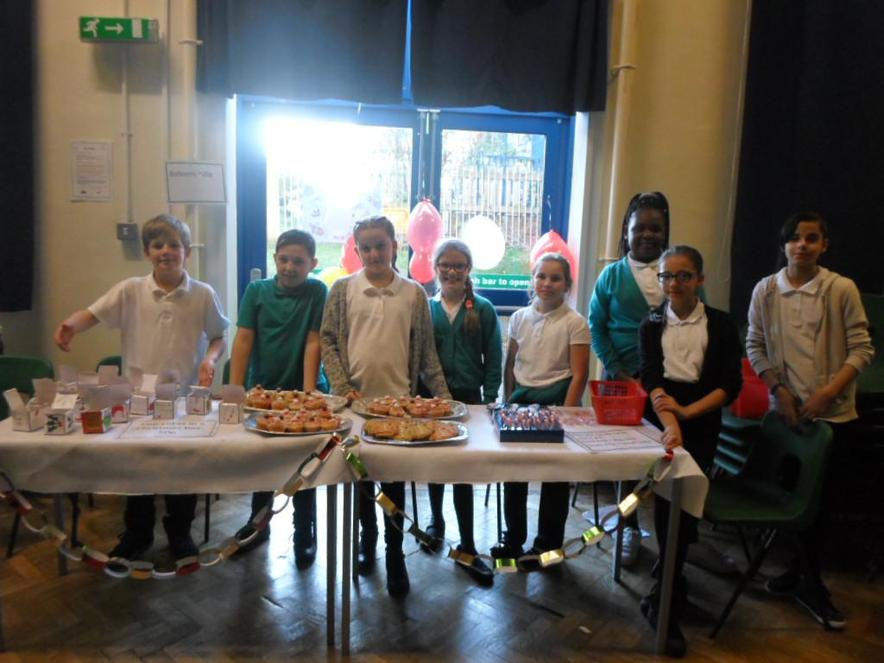 We made cakes and cards for the Enterprise Fair