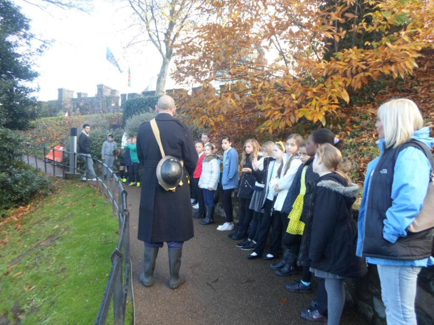 The warden talked about the air raid shelters